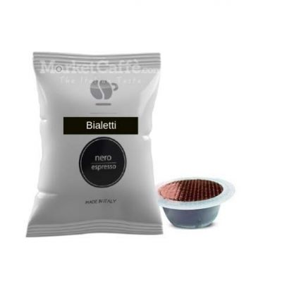 100 Capsule Lollo Miscela Nera Compatibili Bialetti Mokespresso
