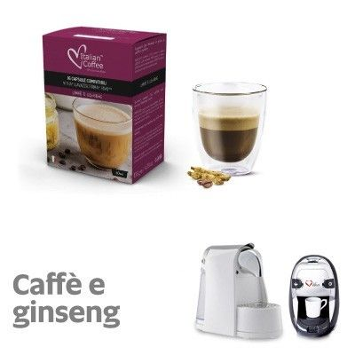 16 Capsule Caffè e Ginseng Italian Coffee compatibili per: Vitha, Lavazza Firma, Rivo