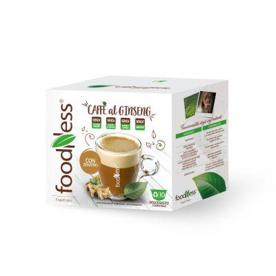10 capsule FoodNess Caffè al Ginseng con Zenzero compatibili Dolce Gusto