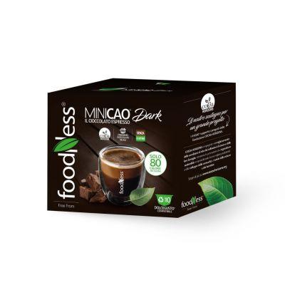 Foodness Capsule MINICAO Dark senza glutine compatibili Dolce Gusto