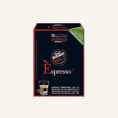 10 Capsule Vergnano cremoso compatibili con Nespresso