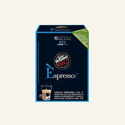 10 Capsule Vergnano Èspresso Dec compatibili con Nespresso