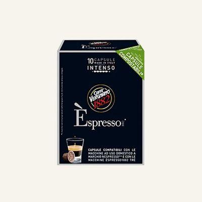 10 Capsule Vergnano èspresso intenso compatibili con Nespresso