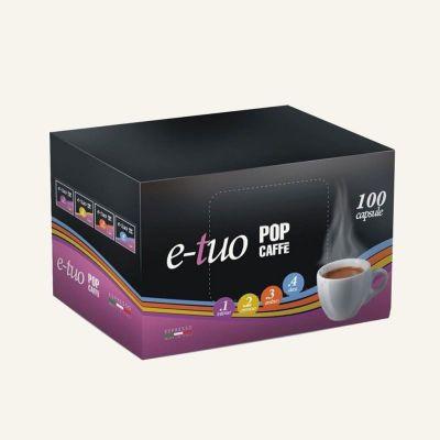 100 Capsule Pop E-tuo .1 intenso compatibili con Mitaca MPS