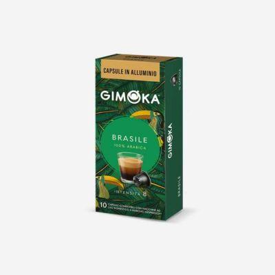 10 Capsule Gimoka Compatibili Nespresso Brasile Alluminio