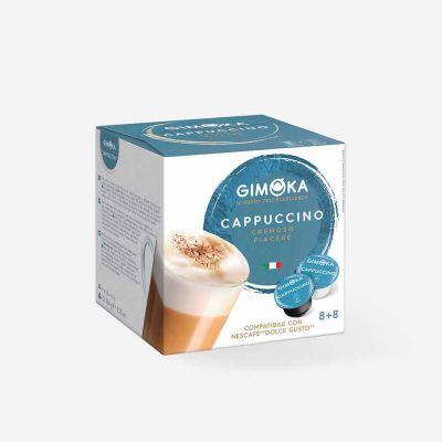 16 Capsule Gimoka Compatibili Dolce Gusto Cappuccino Autoprotette