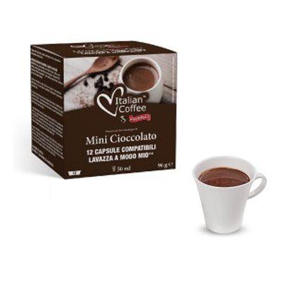 12 Capsule Italian Coffee Compatibili A Modo Mio Cioccolato