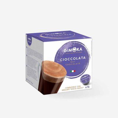 16 Capsule Gimoka Compatibili Dolce Gusto Cioccolata Autoprotette