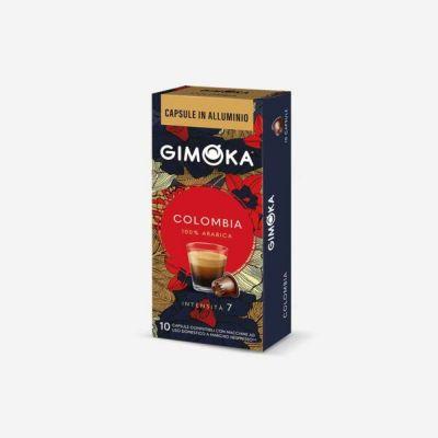 10 Capsule Gimoka Compatibili Nespresso Colombia Alluminio