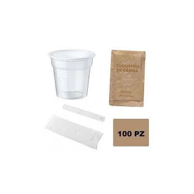 1 Kit Accessori Con Zucchero Di Canna Pz 100