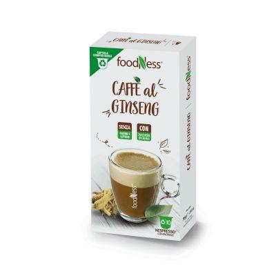 10 Capsule Foodness Compatibili Nespresso Ginseng Con Zucchero Di Canna