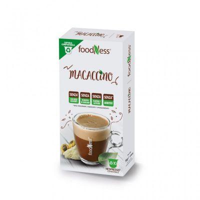 10 Capsule Foodness Compatibili Nespresso Macaccino