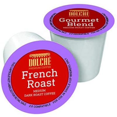 24 Capsule Dolchè Compatibili Keurig K-cup 2 French Roast