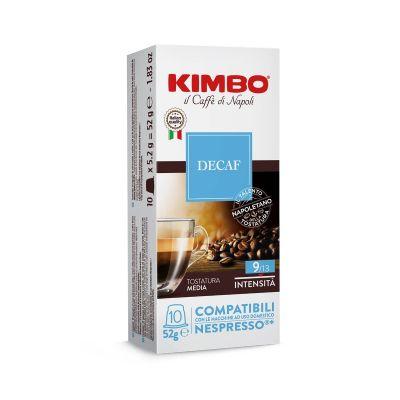 10 Capsule Kimbo Compatibili Nespresso Decaffeinato
