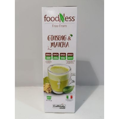 10 Capsule Caffitaly System Foodness Ginseng & Matcha