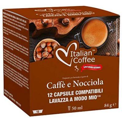 12 Capsule Italian Coffee Compatibili A Modo Mio Caffé Nocciola