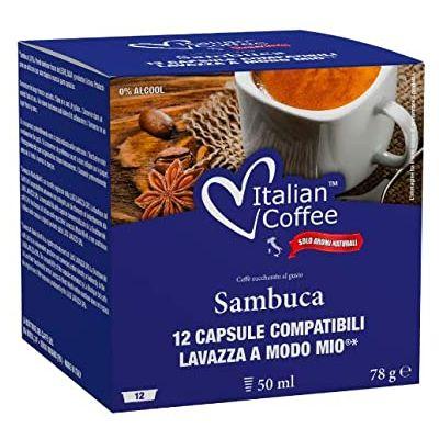 12 Capsule Italian Coffee Compatibili A Modo Mio Sambuca