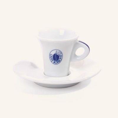 Tazzina da caffè in porcellana con piattino Borbone