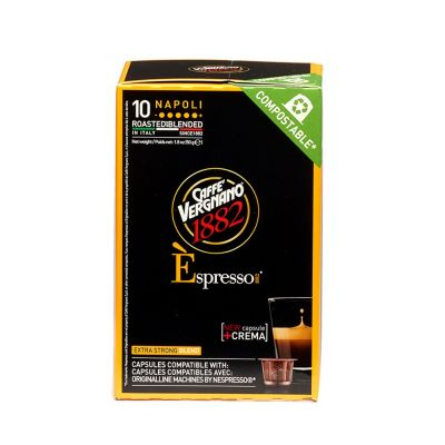 10 Capsule Vergnano Compatibili Nespresso Napoli Compostabile
